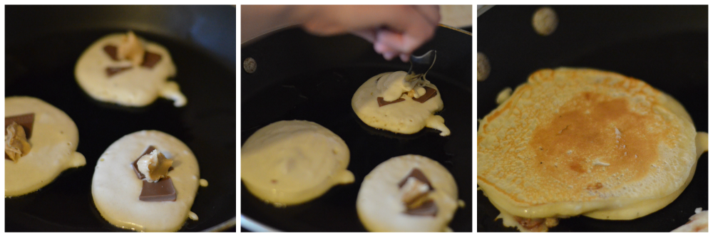 Filling the pancakes